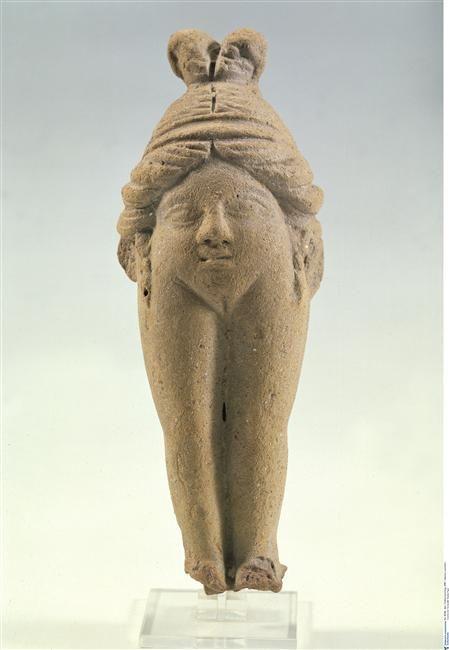 A sculpture of Baubo, goddess of sacred and sexual humor