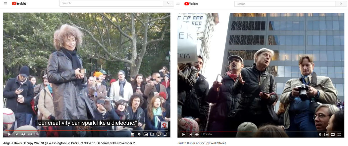 Speeches of Angela Davis and Judith Butler in Occupy Wall Street