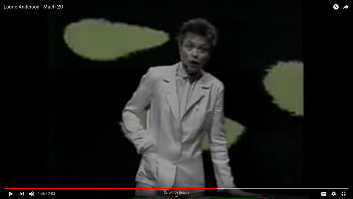 Performance from Laurie Anderson